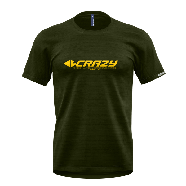 Crazy T-Shirt Logo Man Sulfur-Forest S21096023U