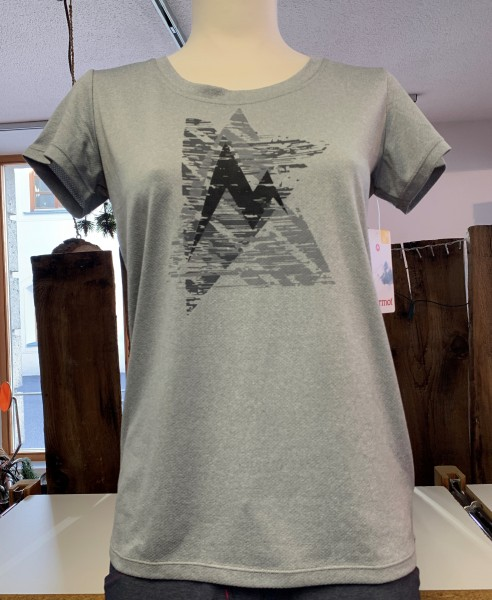 Wms Post Time Tee Grey Storm