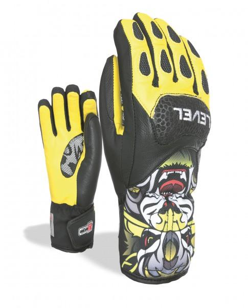 Glove SQ JR CF PK Yellow