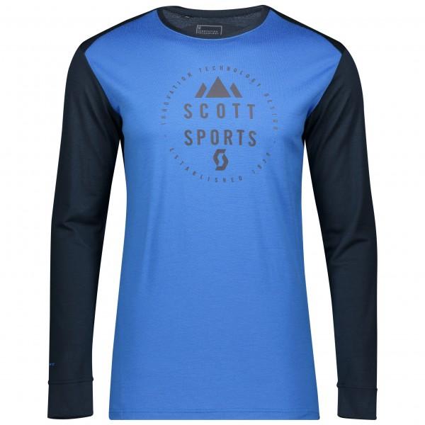 SCO Shirt M's Defined Merino l/sl dk bl/sky bl